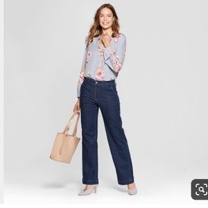 NWT A New Day Wide Leg High Rise Trouser Jeans 8